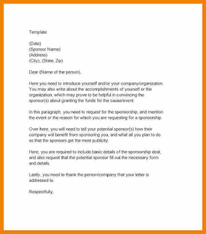 Request For Sponsorship Proposal.Sponsorship Letter Template 06 ...