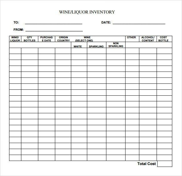 restaurant inventory order sheet template