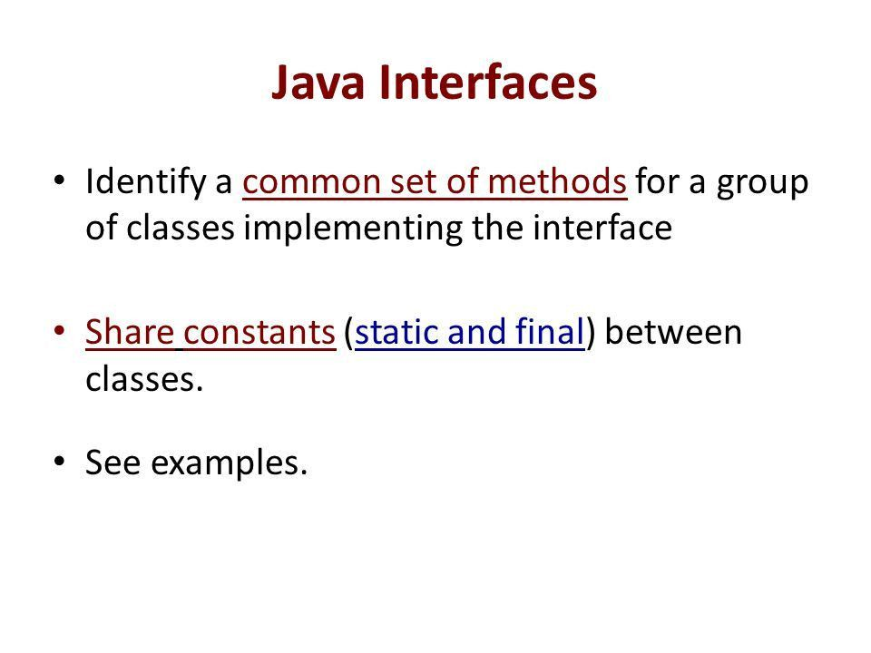 Interfaces. - ppt download