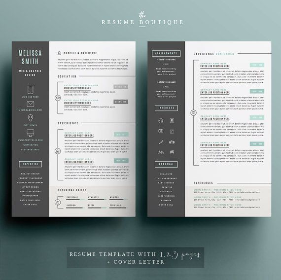 Resume Templates For Pages. Simple Resume Template Vol4 Mac Resume ...