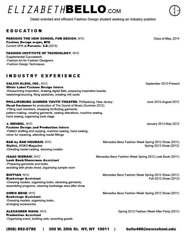 sample resume fashion designer fashion designer free resume