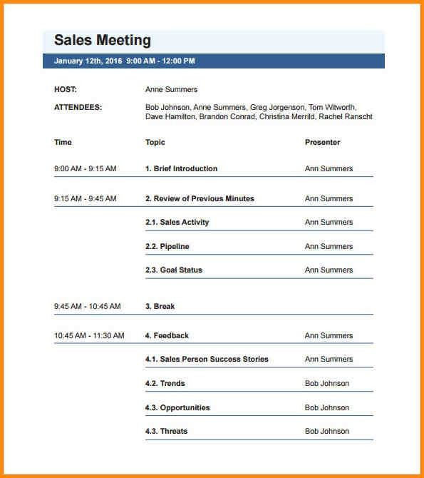 12+ meeting agenda format | workout spreadsheet