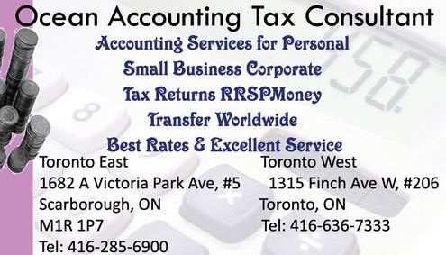 Ocean Accounting Tax Consultant | Scarborough | Ontario Accounting ...