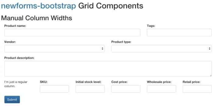 newforms-bootstrap - ReactJS Example