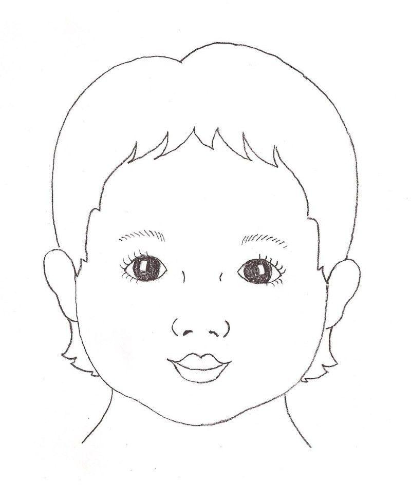 child face template | Re: Face Outlines? | art ideas | Pinterest ...