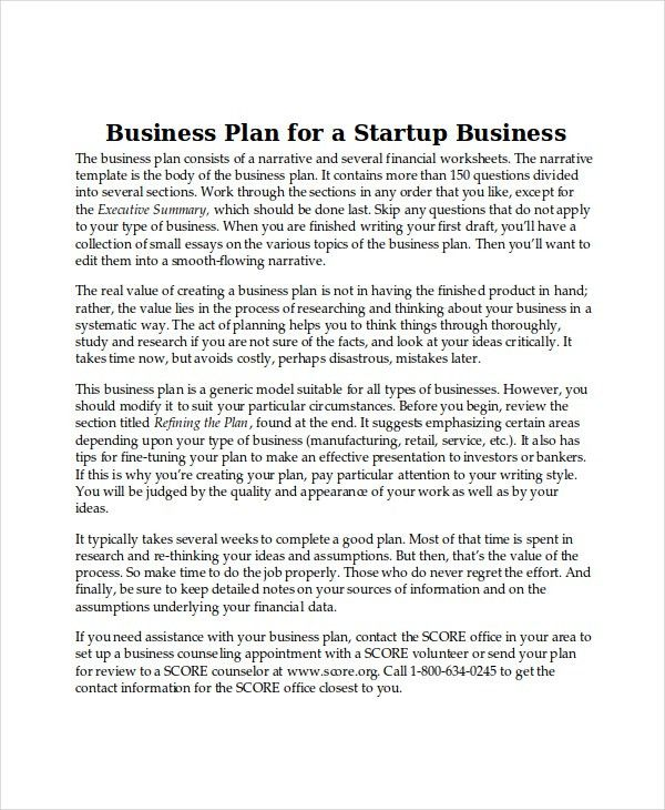 Business Plan Templates - 10+ Free Word, PDF Document Downloads ...