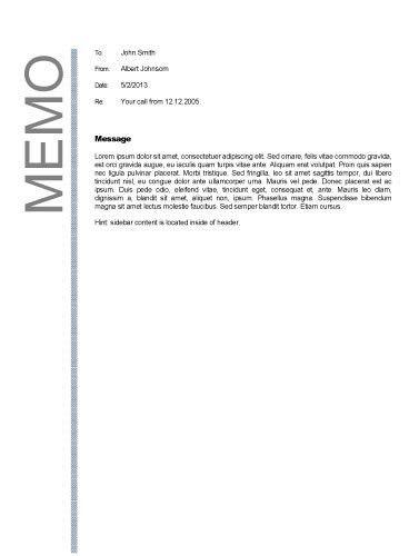 Business memo format | Business Memos | Pinterest | Business memo ...