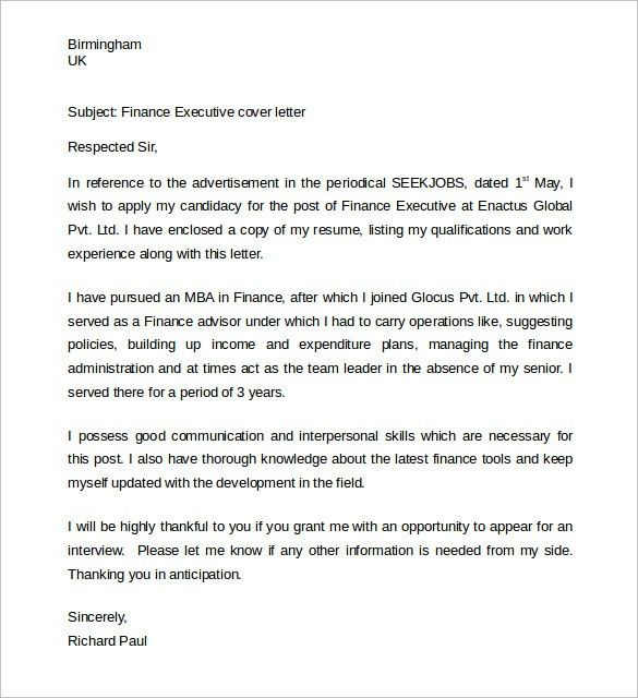 Sample Administrative Assistant Cover Letter- 9+ Download Free ...