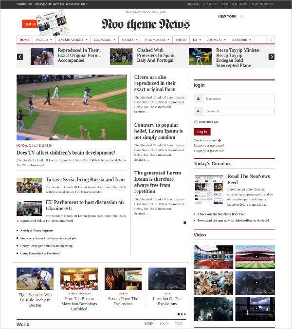30+ News Joomla Themes & Templates | Free & Premium Templates