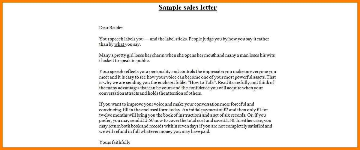 7+ sales letters example | resume pictures