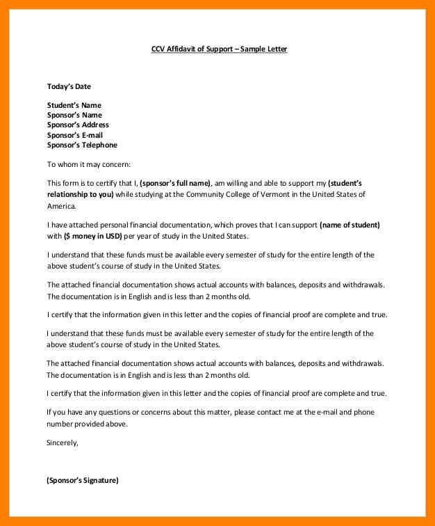 11+ affidavit letter   childcare resume