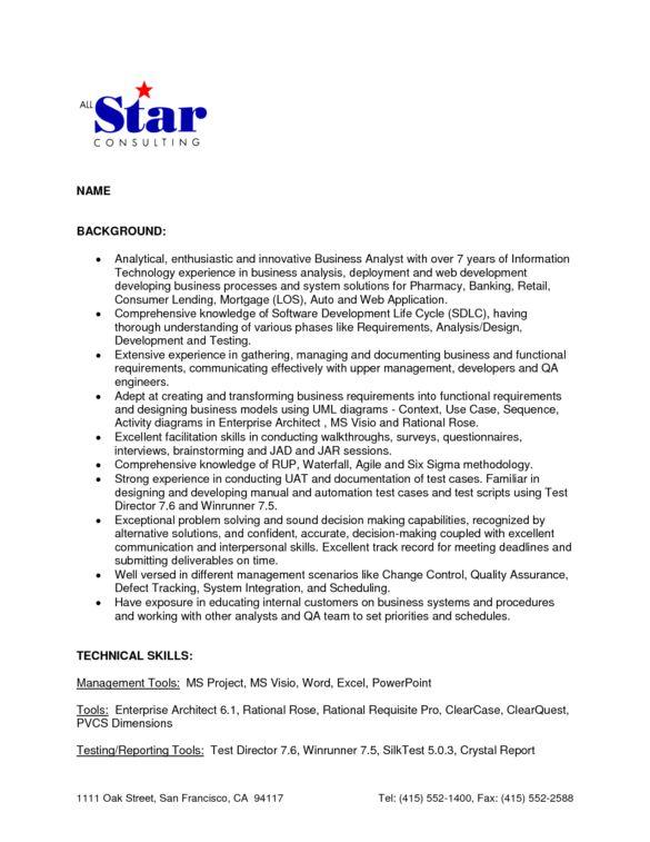 Business Development Analyst Cover Letter