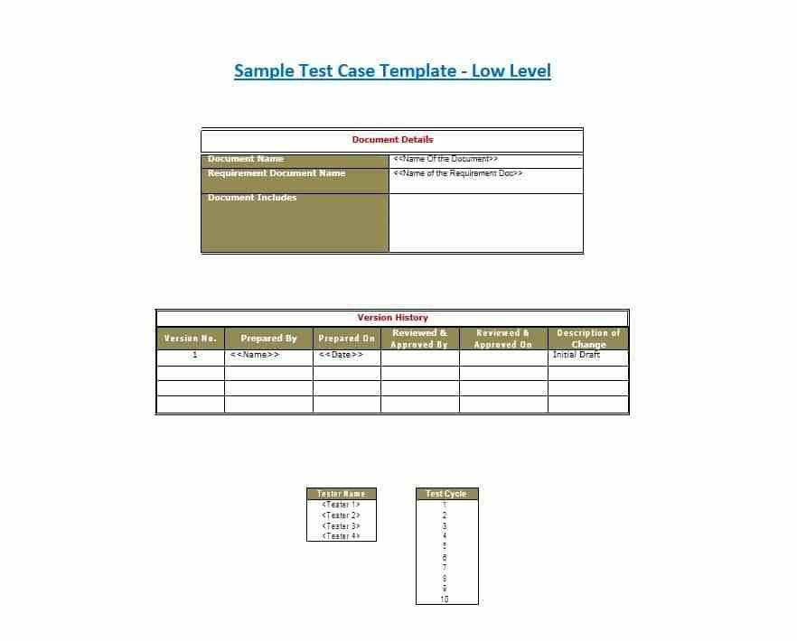 Sample Test Cases Template. sample test case template youtube ...