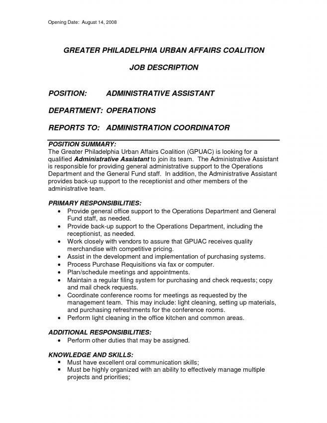 6 Executive Assistant Job Description Sample Job Duties executive ...