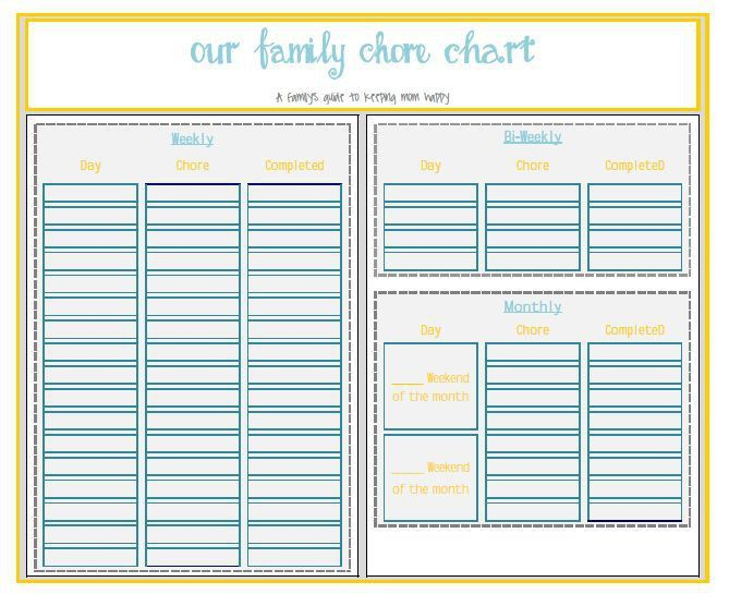 9 best Organization images on Pinterest | Family chore charts ...