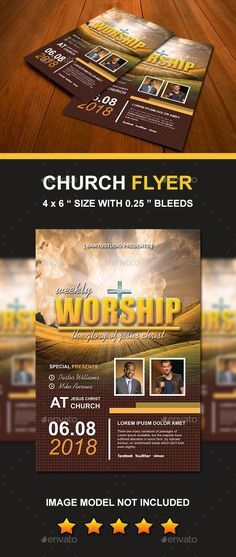Made to Worship Church Flyer | Flyer template, Churches and ...