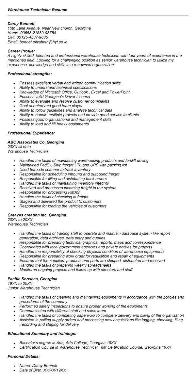 Analyzer Technician Resume / Sales / Technician - Lewesmr