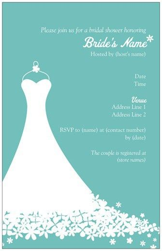 Bridal Shower Invitation Templates | Bridal Shower Invitations
