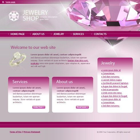 Jewelry HTML Template - 3665 - Jewelry - Website Templates ...