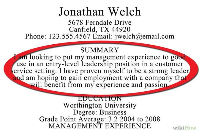 how to write resume summary. example of resume summary resume ...