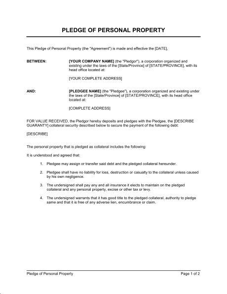 Personal Guarantee - Template & Sample Form   Biztree.com