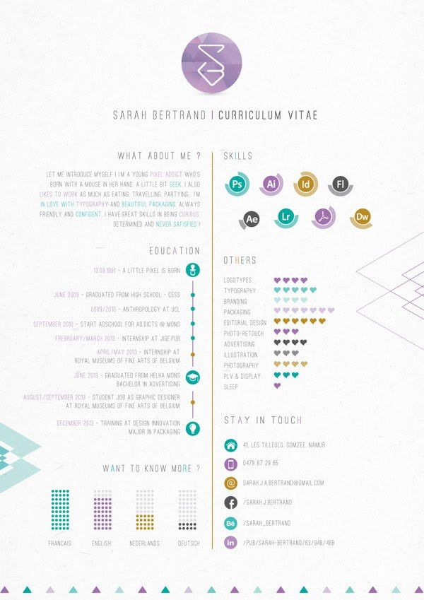 40 Creative CV Resume Designs Inspiration 2014 | Creative cv, Cv ...