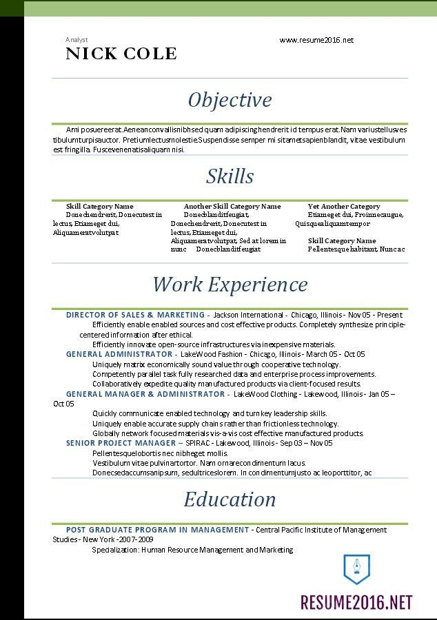Standard Resume Template | berathen.Com