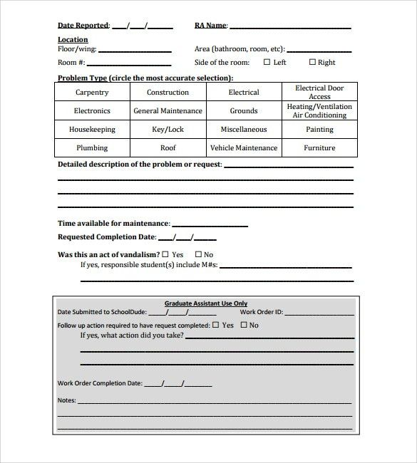 order request form template