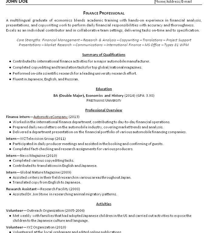 Lovely Ideas College Grad Resume 6 College Grad Resume Examples ...