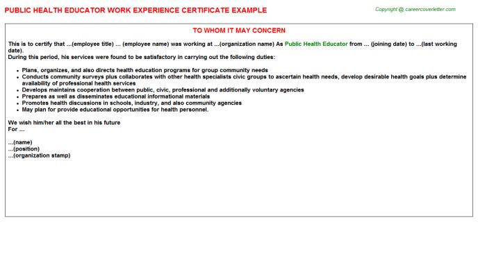 Group certificate example ytd calculator calculate your year to public health educator work experience certificate yadclub Gallery