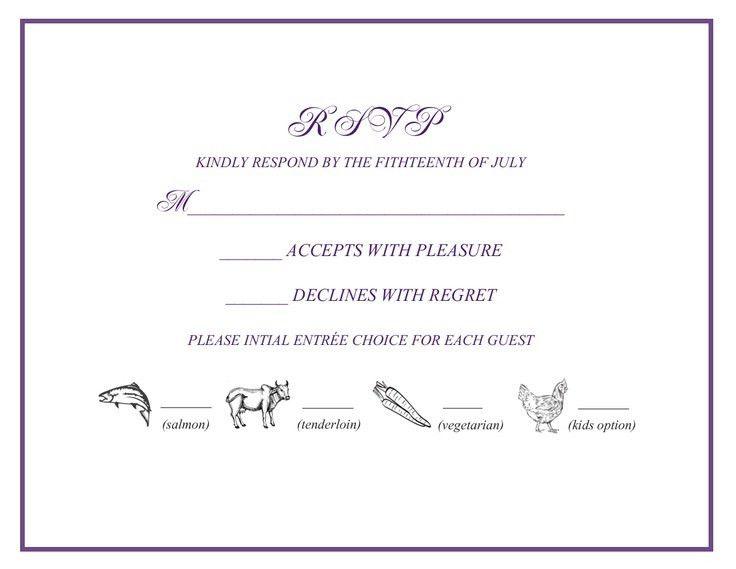 Wedding Online Rsvp Wording Samples – Mini Bridal