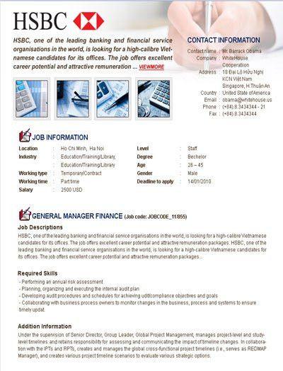 CareerBuilder Vietnam Products and Services - Branded Job Posting