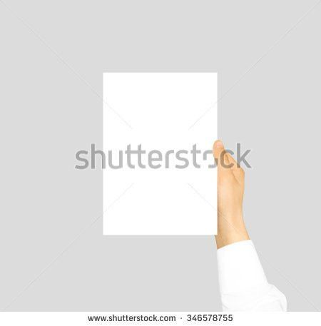 Hand Holding Blank Flyer Brochure Booklet Stock Photo 346578755 ...