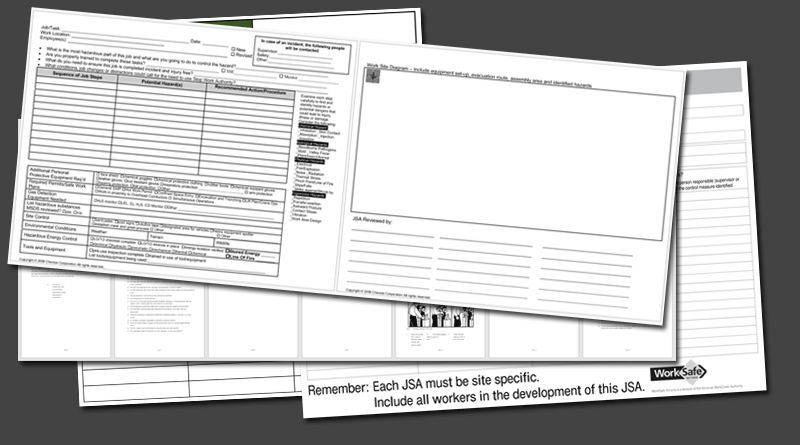 Job Safety Analysis Templates - 4 Free Forms for Word and PDF