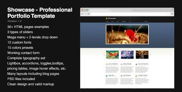 Showcase - Professional Portfolio Template by Pixelworkshop ...