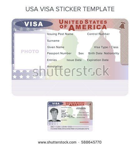 Schengen Visa Passport Sticker Templates Finland Stock Vector ...