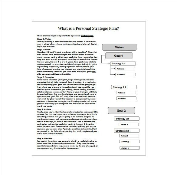Strategic Action Plan Template – 9+ Free Sample, Example, Format ...