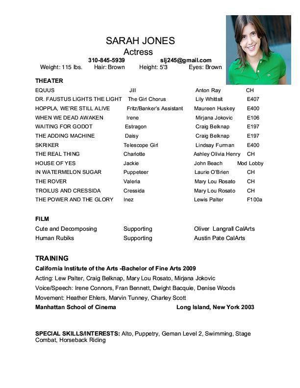 Theatre Resume Template | tristarhomecareinc