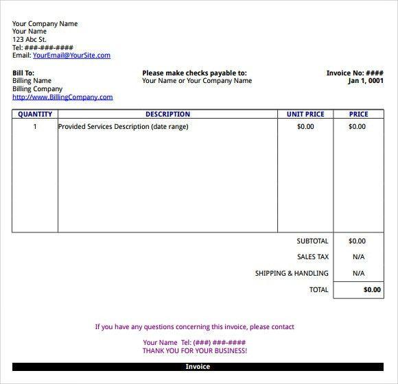 microsoft invoice templates