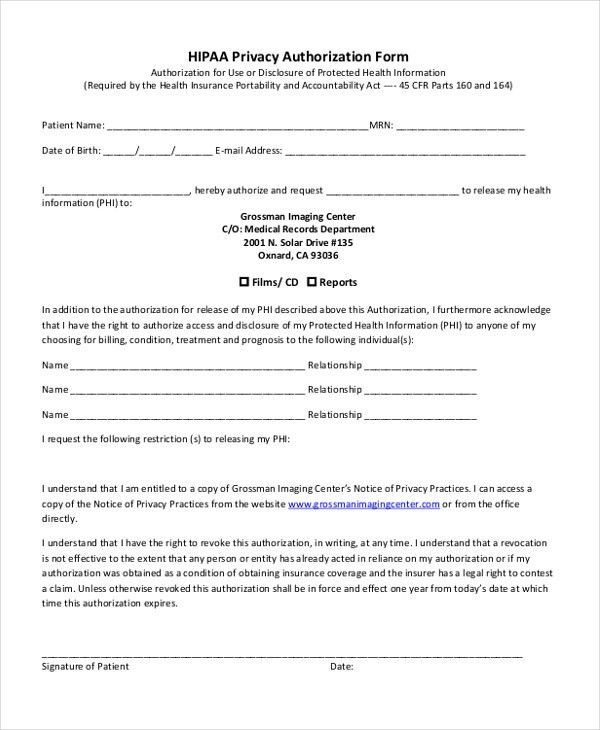 Authorization Form Template] Credit Card Authorization Form ...