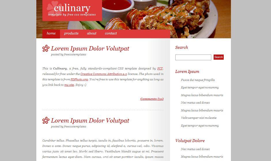 Free Dreamweaver Restaurant Templates | CSS MenuMaker