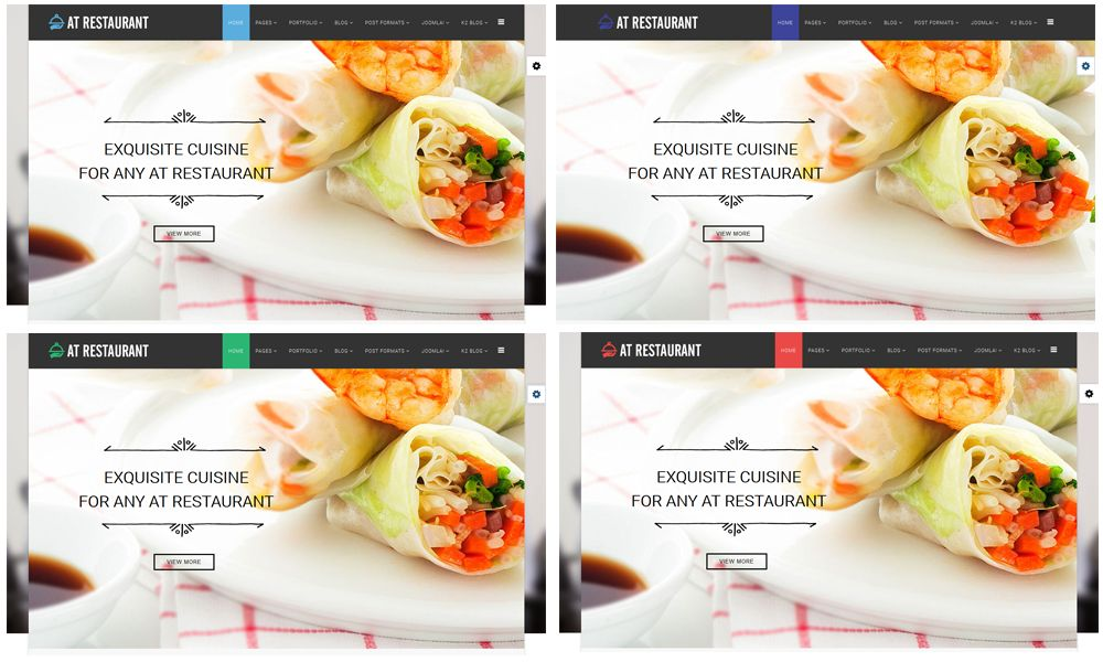 AT Restaurant – Free Food Order / Restaurant Joomla Template - Age ...