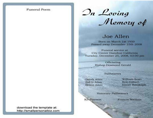 64 best MEMORIAL LEGACY & PROGRAM TEMPLATES images on Pinterest ...