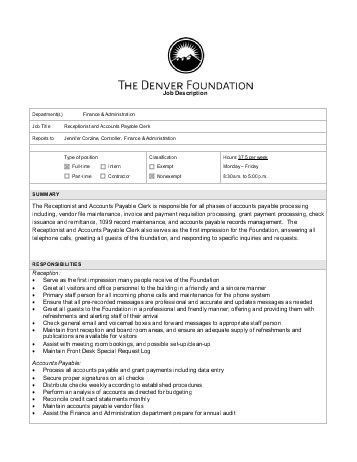 Accounts Payable Job Description. Accounts Payable Specialist ...