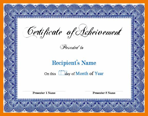 8+ award certificate templates word | mailroom clerk