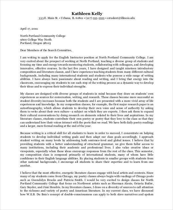 Job Application Letter For Teacher Templates - 10+ Free Word, PDF ...