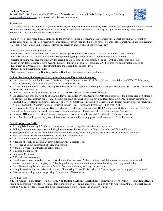 college recruiter sample resume accounting sales sample resume ...