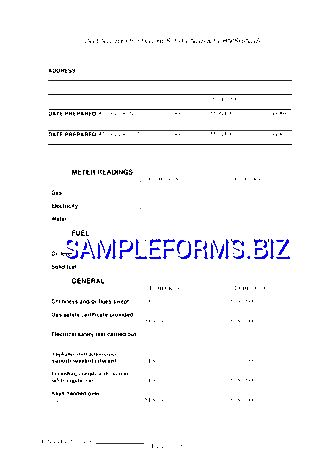 Landlord Inventory Template & samples forms