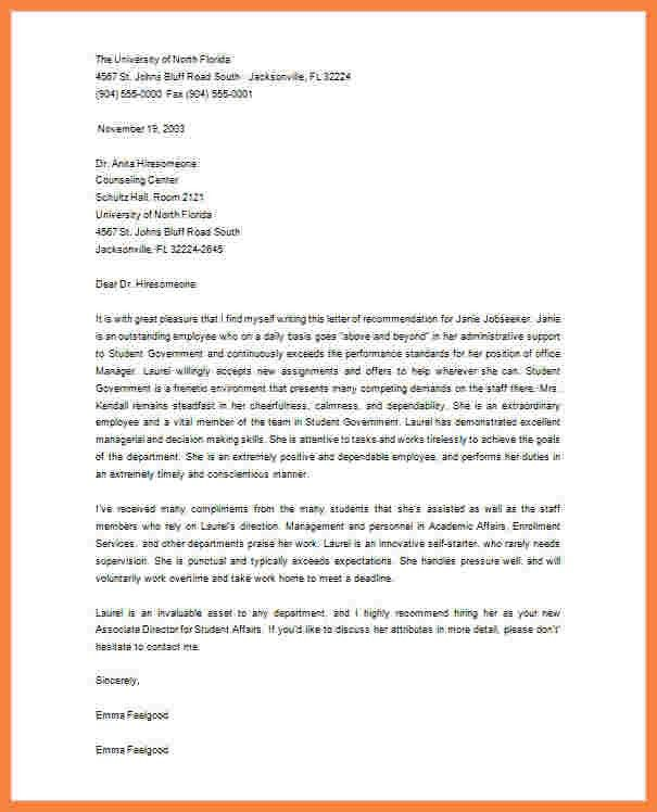 9+ graduate school recommendation letter from employer sample ...
