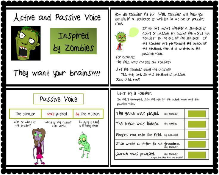 79 best Active and Passive Voice images on Pinterest | English ...